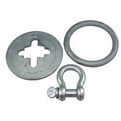 STAR PLATE & RING  & SHACKLE FOR3IN TUBE