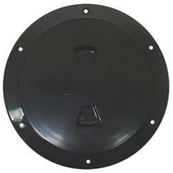 6IN BLK SCREW-OUT DECK PLATE