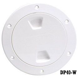 4IN WHT SCREW-OUT DECK PLATE