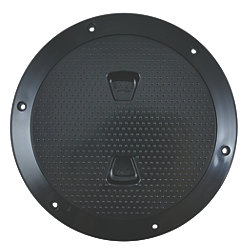 6IN BLK SCREW OUT DECK PLATE
