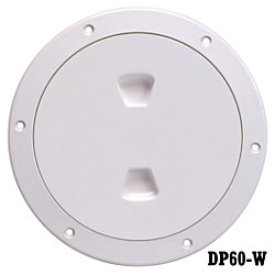 6IN WHT SCREW-OUT DECK PLATE