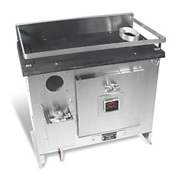 BERING STOVE W/ 12V FAN, 24IN TOP