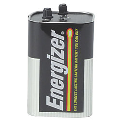 6 VOLT ALKALINE BATTERY W/SCREWS