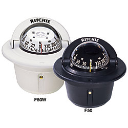 FLUSH MOUNT EXPLORER COMPASS, BLACK