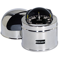 5IN BINNACLE MOUNT COMPASS  BLACK