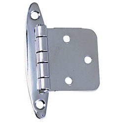 2-3/4X1-7/8IN CHR BRS FLUSH HINGE (PR)