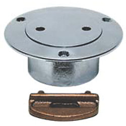 1-1/2IN SS GAS PIPE DECK PLATE