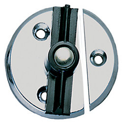 CHR ZINC DOOR BUTTON W/SPRING