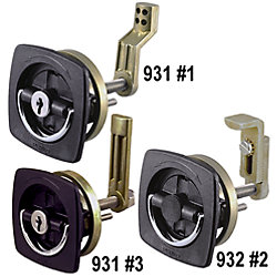 WHT FLUSH LATCH SET W/OFFSET ADJ CAM