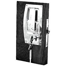 CHR FLUSH SLIDING DOOR LOCK