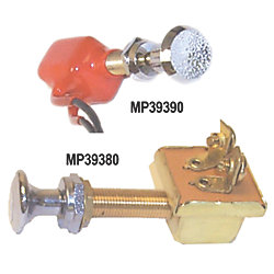 SPST BRS PUSH-PULL SWITCH 2 POS