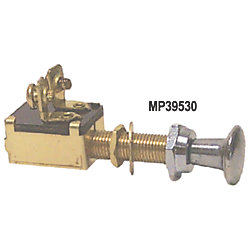 SPST BRS/CHR PUSH-PULL SWITCH 2 POS