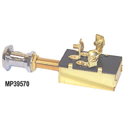 SPDT BRS/CHR PUSH-PULL SWITCH 3 POS