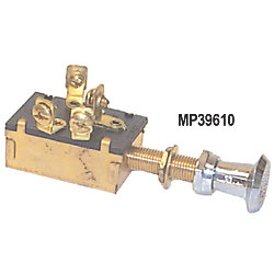 SPDT BRS/PLS PUSH-PULL SWITCH 3 POS