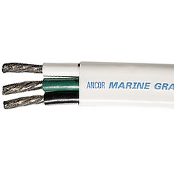 8/3 BLK/GRN/WHT FLAT WIRE (25FT)