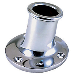1-1/4IN CHR UPRIGHT STERN POLE SOCKET