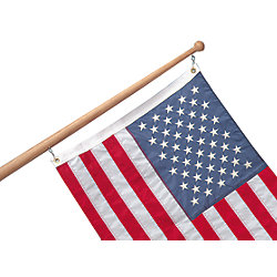 FLAG POLE 72IN W/1-1/4IN BASE  TEAK
