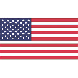 12INX18IN PRINTED U.S. FLAG-NYLON