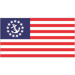 4FTX6FT SEWN U.S. YACHT ENSIGN-NYLON