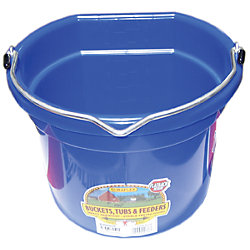 8QT RED FLAT BACK BUCKET