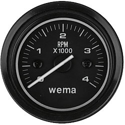 8000 RPM TACHOMETER, 3IN FLUSH MOUNT