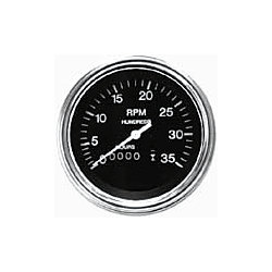 OIL TEMP. GAUGE 140-320F POL. H/D