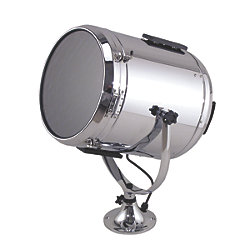 14IN CHR BRS SEARCHLIGHT W/STD PEDESTAL