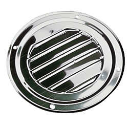 STAINLESS ROUND LOUVER VENT 4IN