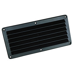 ABS LOUVERED VENT-BLACK 3INX5-1/2IN