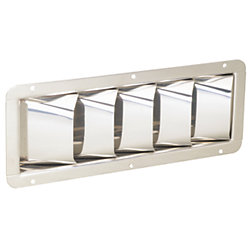 S.S. LOUVERED VENT 4-3/8INX11-5/16IN