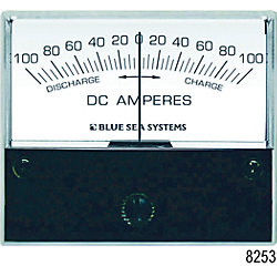 100-0-100A DC ANALOG ZERO CENTER AMMETER
