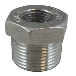 2X1-1/2IN NPT SS HEX BUSHING