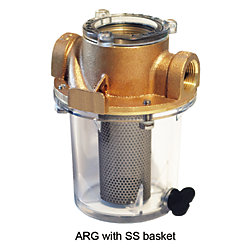 1IN BRZ SGL STRAINER W/MONEL BASKET