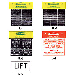 IDENTI-LABEL SET  BOAT LABELS