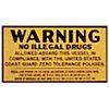 Drug Warning Plaque