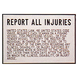 INJURY PLAQUE
