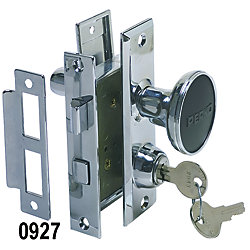 CHR ZINC MORTISE LOCK SET W/BOLT