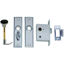 CHR ZINC MORTISE LATCH SET W/TURN BUTTON