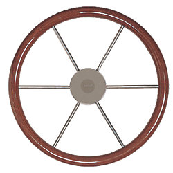 STEERING WHEEL 15IN MAHOGANY RIM