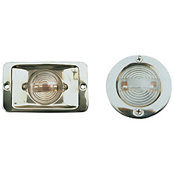 STAINLESS TRANSOM LIGHT  ROUND