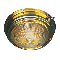 BRASS DOME LIGHT-4IN LENS