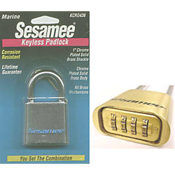 SESAME ALL BRASS CHR. LARGE PADLOCK