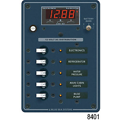 12V A SERIES PANEL 5 POS MULTIMETER