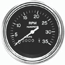 3500 RPM DIESEL TACHOMETER, POL H/D