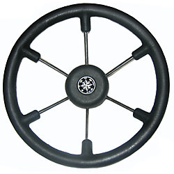 14IN TALON BLACK 6-SPOKE STEERING WHEEL