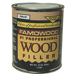 6 OZ RED OAK WOOD PUTTY,SOLVNT BASE