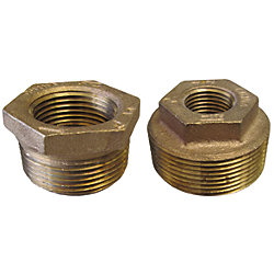 2 X 1/2IN NPT BRZ HEX BUSHING