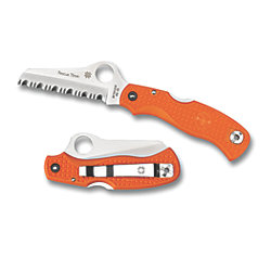 SS RESCUE 79MM ORANGE SERRATED