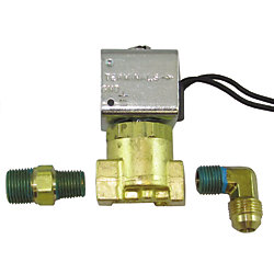 12VDC LOW PRESS BRASS 1/4IN SOLENOID