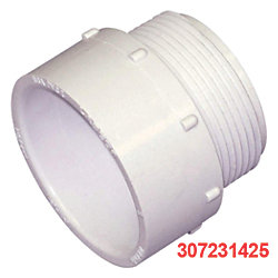 1-1/2IN NPT ADAPTER TO RIGID PVC PIPE